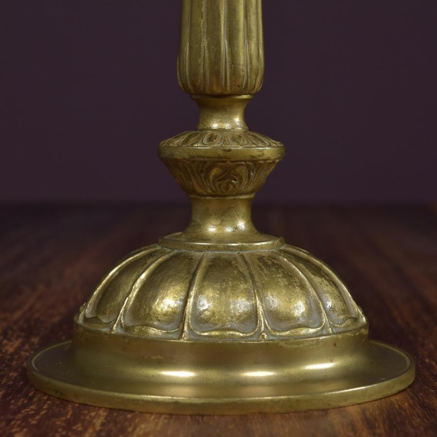antique Edwardian gilt brass table lamp
