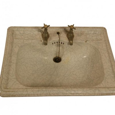 A rare marbleised Victorian wash basin