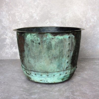 Original Victorian Copper Garden Planter or Plant Pot