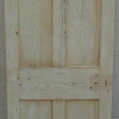 Narrow Victorian pine door