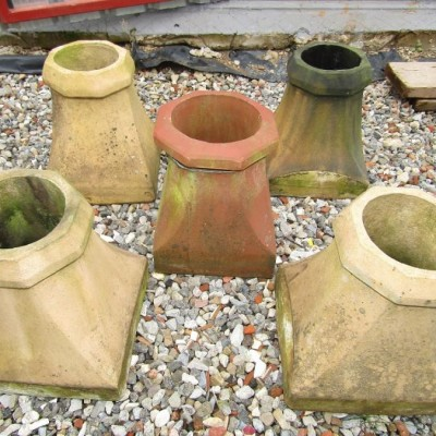 5 Old chimney pots