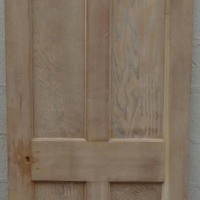 Reclaimed 4  panel pine door