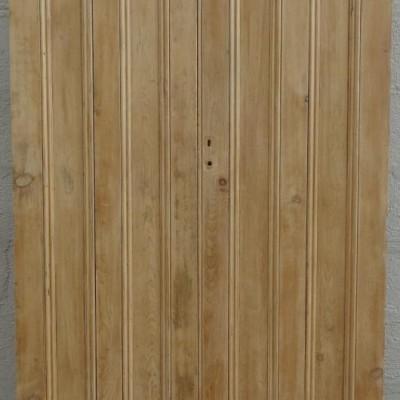 Victorian pine rebated cupboard / wardrobe doors