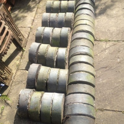 42 Reclaimed Staffordshire blue / grey / capping / coping stones
