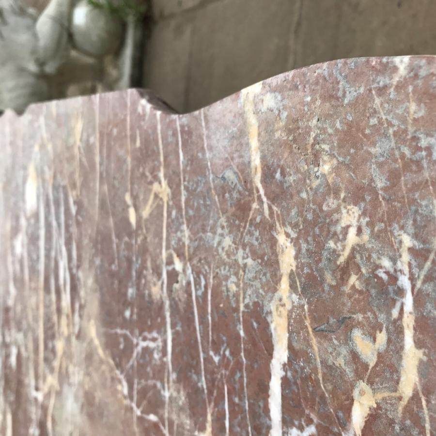 Reclaimed Cast Iron Desk with Marble Top