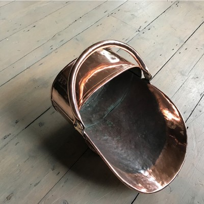 Antique Copper Coal Scuttle