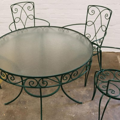Reclaimed Outdoor Table and Four Chair Set