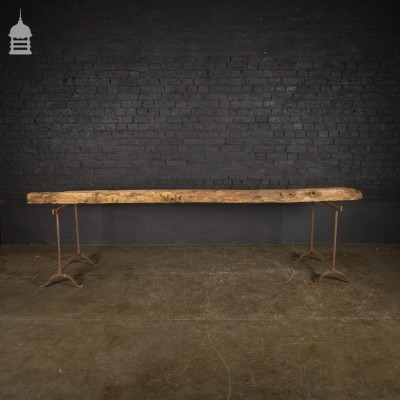10 Foot Long Antique Oak Character Feature Beam 3 Metre +