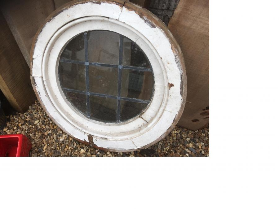 Reclaimed 1930's round window