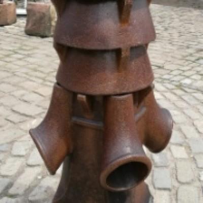Unusual Large Vented Chimney Pot Trumpet Detail Salt Glaze