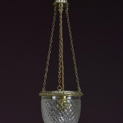 f & c osler brass mounted hanging pendant lamp