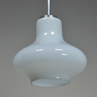 opaline white glass bell shades