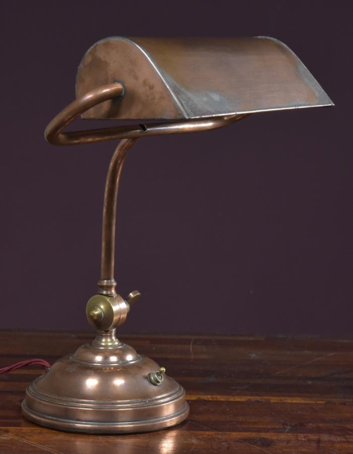 antique bankers desk lamp c1930