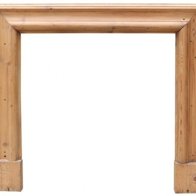 Late 19th Century Pine Bolection Fire Surround