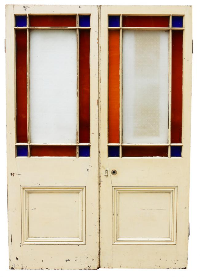 For Sale Pair Of Victorian Pine Interior Margin Glazed Double Doors