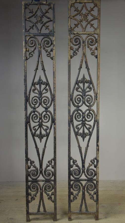 antique cast iron decorative grills porch support - Edward Haes