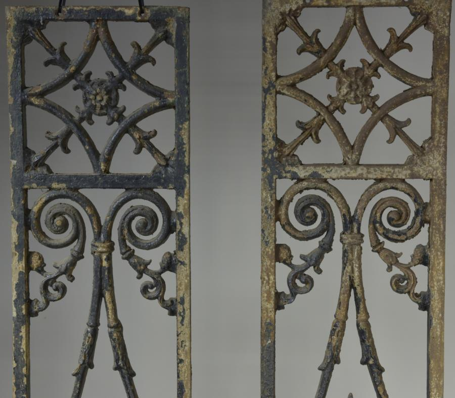 antique cast iron decorative grills porch support