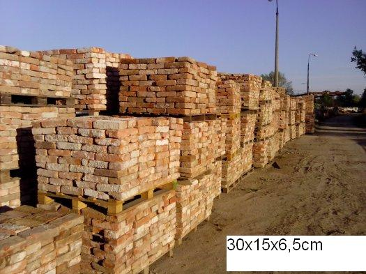 Old handmade terracotta bricks with stamps - 60 000pcs.