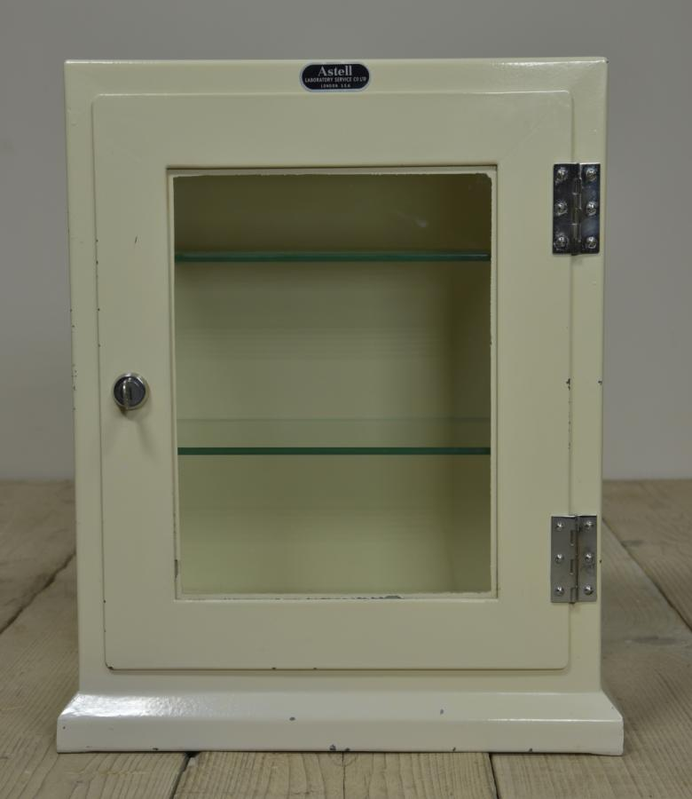 small vintage steel medical cabinet -Astell