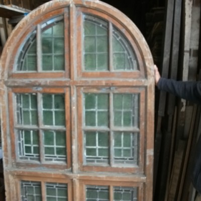 stain glass arch top window