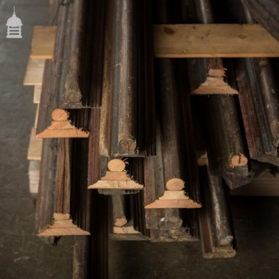Large Collection of 19th C Pine Ceiling Mouldings