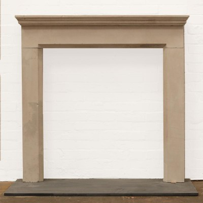 Late 18th Century Limestone Fire Surround