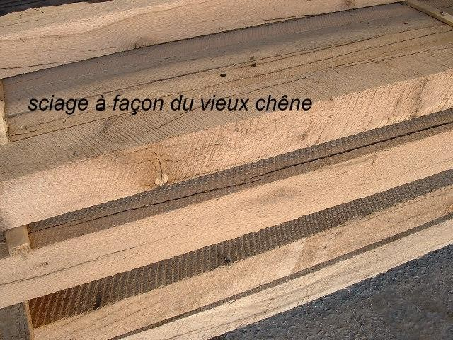 Solives & colombage vieux chêne scié - Re-sawn old oak joists