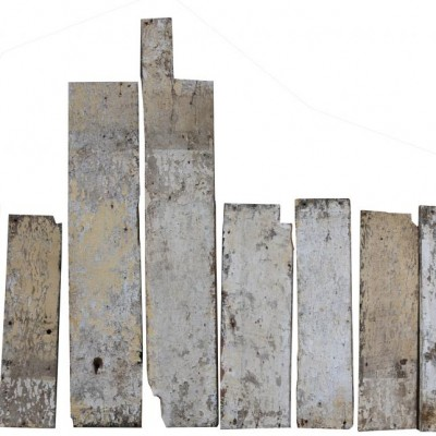 18th Century Painted Elm Boards