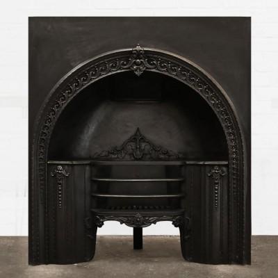 Antique Victorian Cast Iron Fire Insert