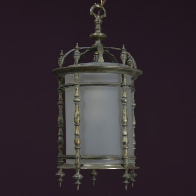 antique brass baluster lantern