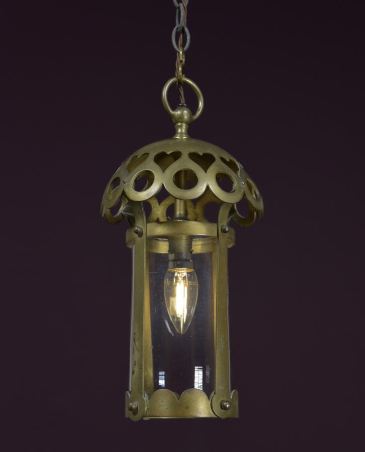 Arts & crafts cast brass lantern