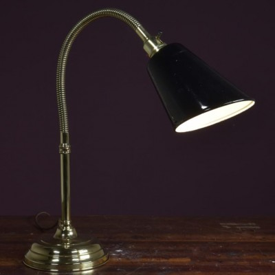 polished brass antique table desk lamp