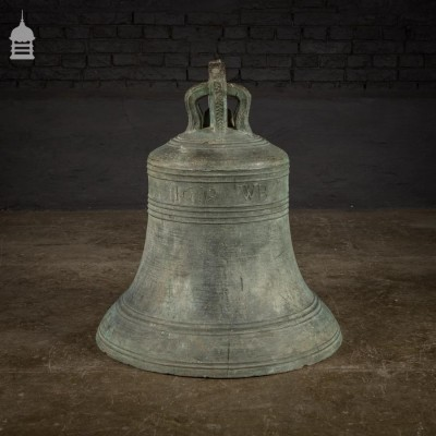 Large 17th Century Bronze William Brend Bell Dated 1619