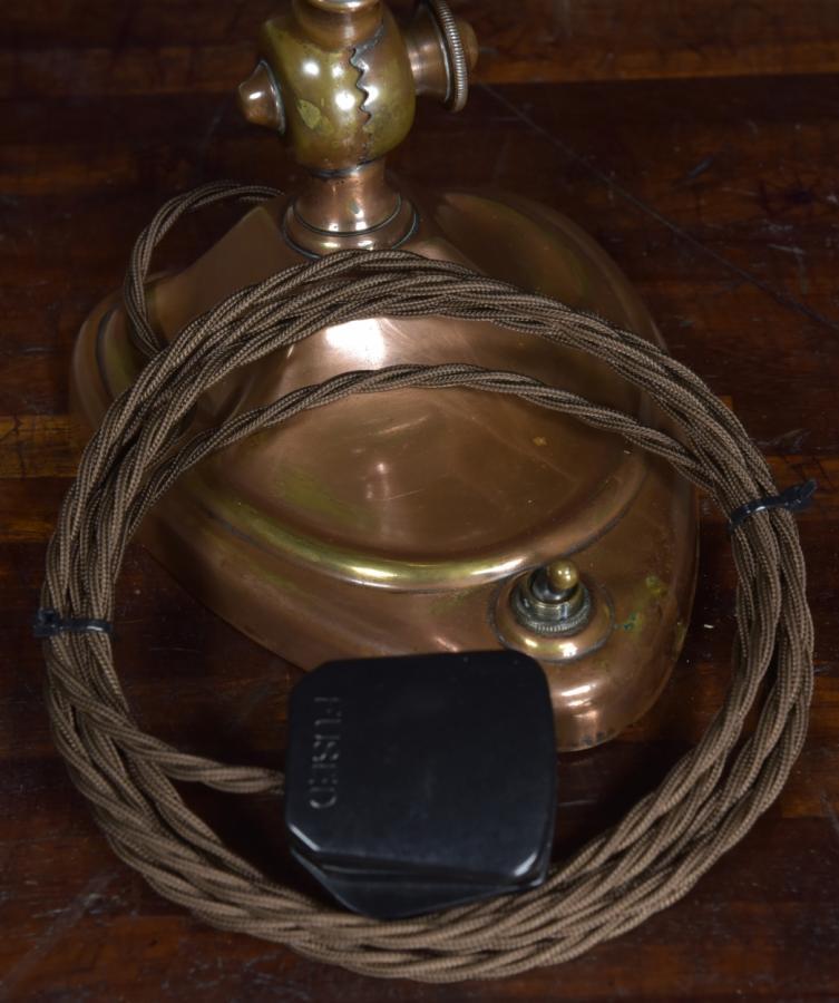 antique bankers  desk table lamp - heart shaped base