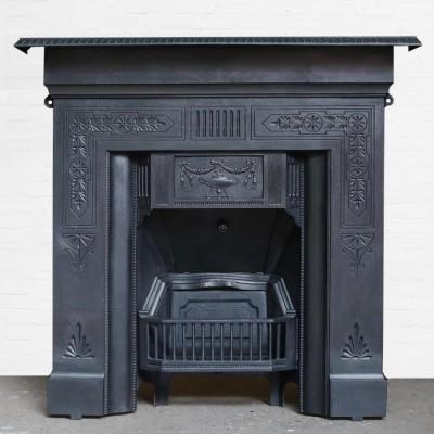 Edwardian Cast Iron Combination Fire