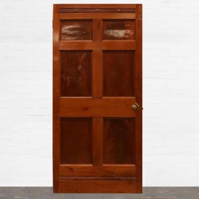 Georgian Flame Mahogany Six Panel Door - 107cm x 226cm