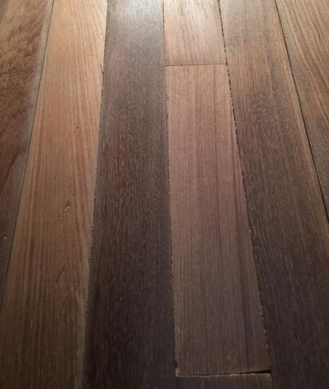 Rare 140 year old Burmese teak T&G strip flooring