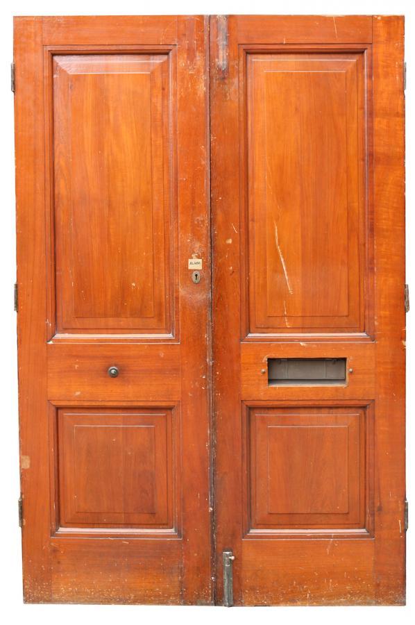 Pair Of Reclaimed Teak Exterior Double Doors