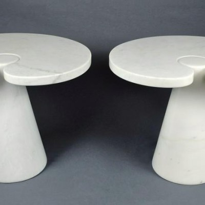 Original Pair Angelo Mangiarotti Eros Side Tables Skipper Italy
