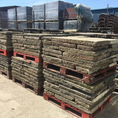 Any Quantity of Beautiful Reclaimed York Stone Flags For Sale