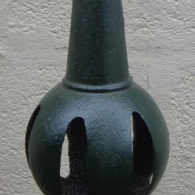 Antique cast iron finial