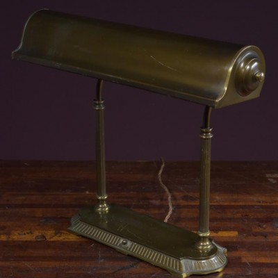 Ajusco bronze desk / bankers table lamp