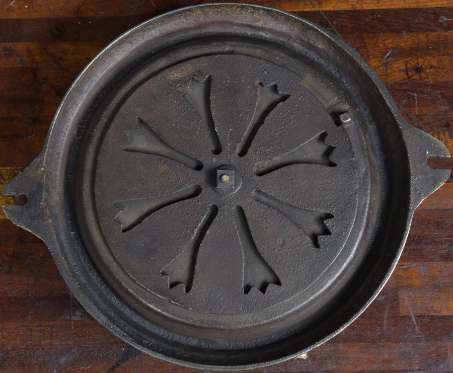 Pair decorative circular cast iron air vents- Victorian