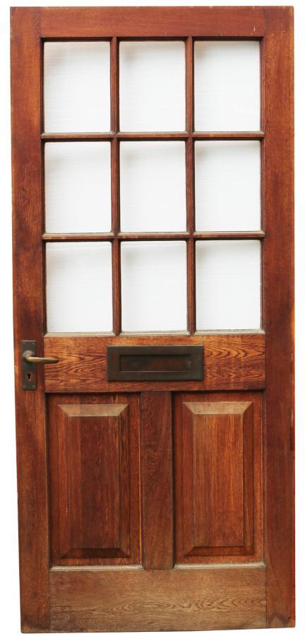 Early 20th Century Glazed Oak Front Door