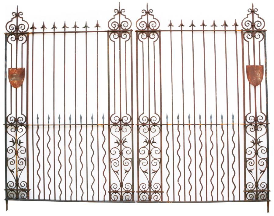 Pair Of Grand Wrought Iron Driveway Gates