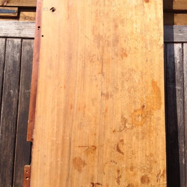 Reclaimed Solid Iroko/Teak Worktop 358cm x 70cm