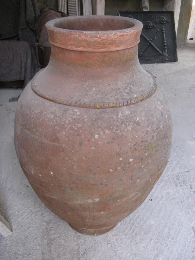 Old Terracotta Olive Oil Urn