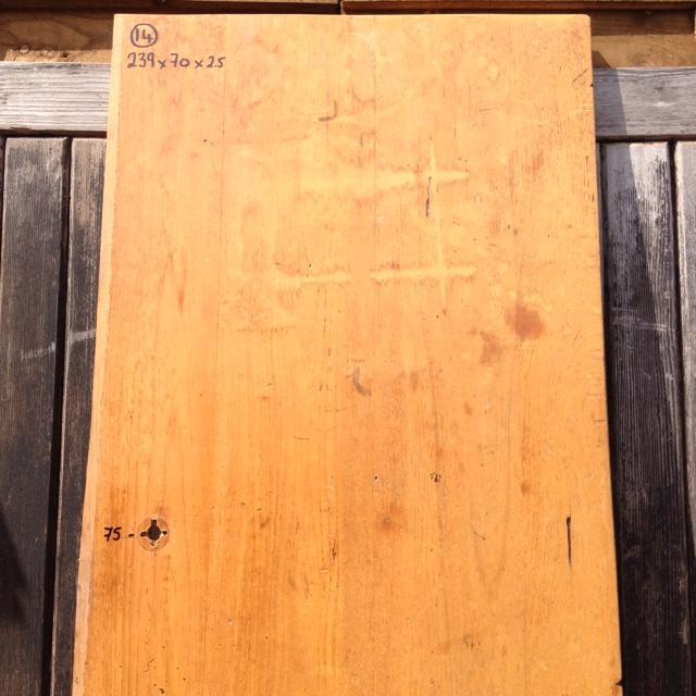 Reclaimed Solid Iroko/Teak Worktop 239cm x 70cm
