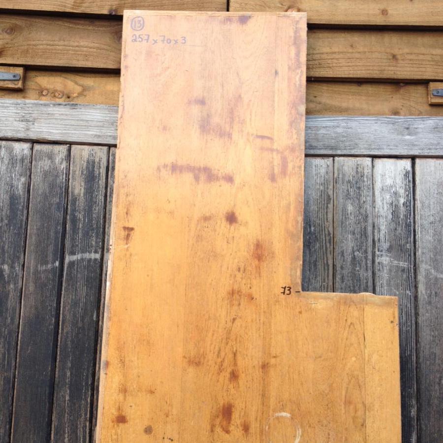 Reclaimed Solid Iroko/ teak Worktop 257cm x 70cm