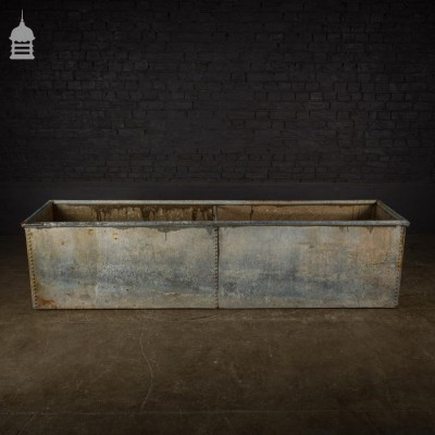 Huge Galvanised Tank Planter Trough with Riveted Sides